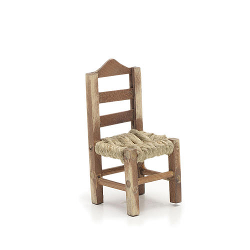 Chaise en miniature pour la crèche Napolitaine h 6 cm 1