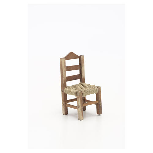Neapolitan Nativity scene accessory, chair 6cm 3