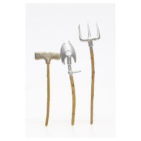 Outils de travail en miniature pour crèche 3 pcs s4