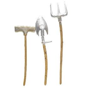 Outils de travail en miniature pour crèche 3 pcs s2