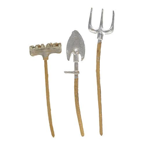Outils de travail en miniature pour crèche 3 pcs 1