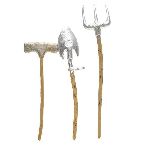 Outils de travail en miniature pour crèche 3 pcs 2
