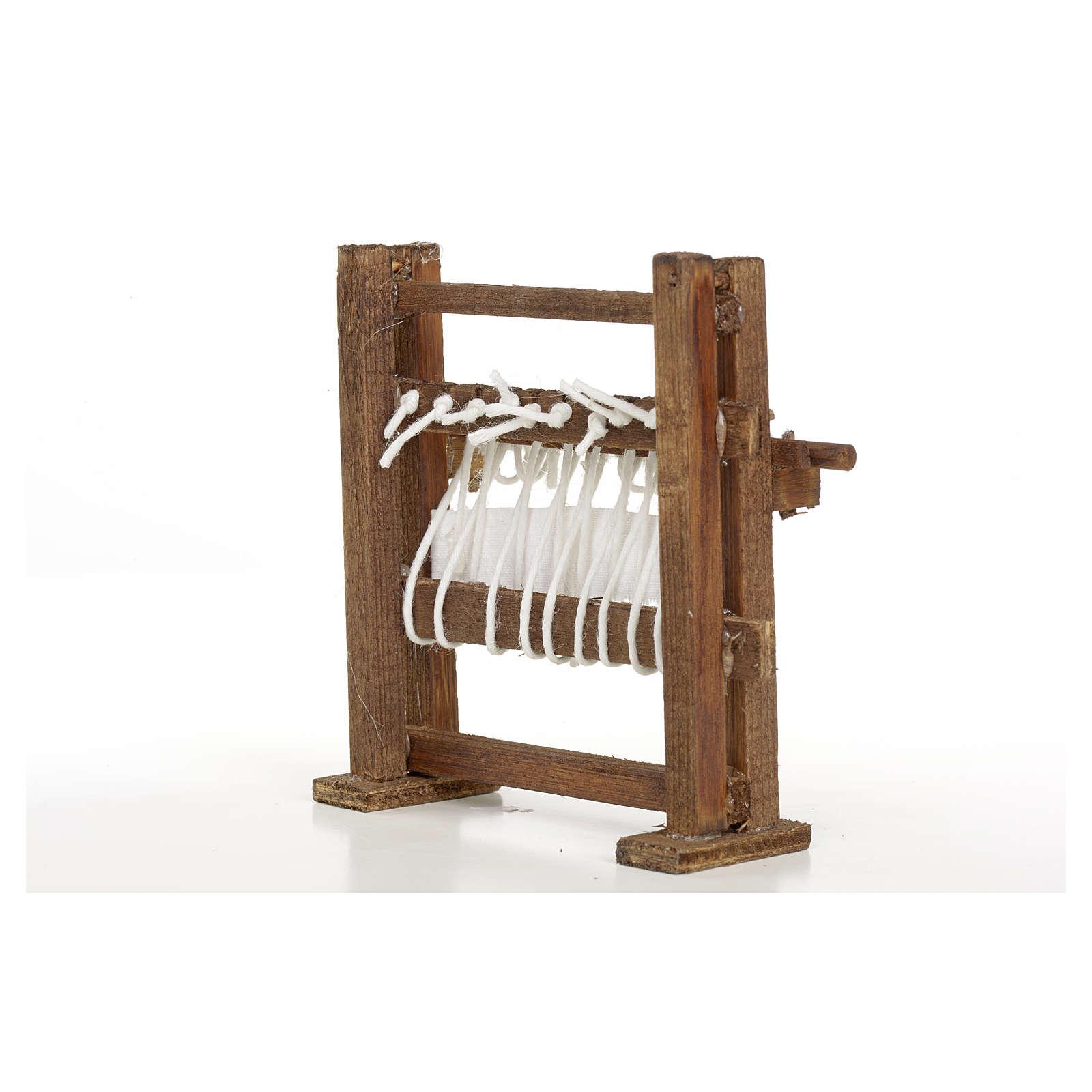 Métier à tisser en miniature crèche Napolitaine 4