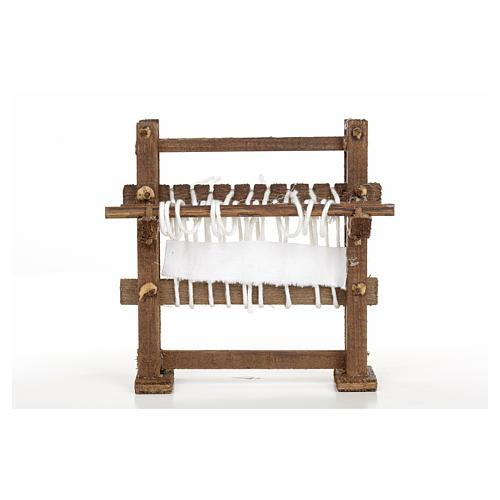 Métier à tisser en miniature crèche Napolitaine 1