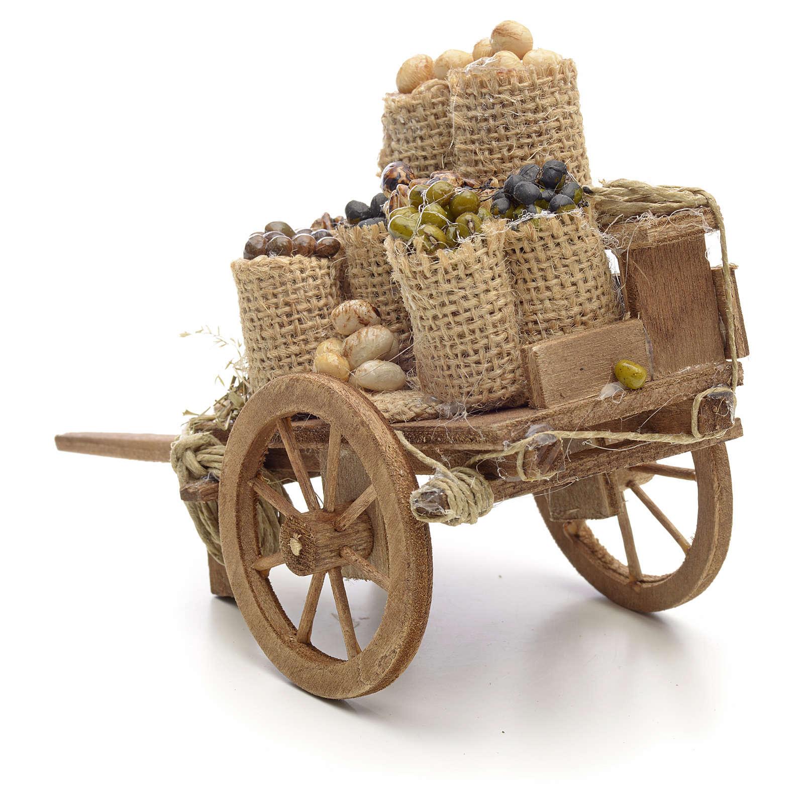 Carro con frutta secca presepe Napoli 4
