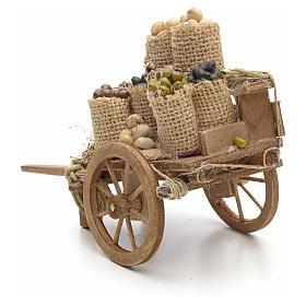 Carro con frutta secca presepe Napoli s3