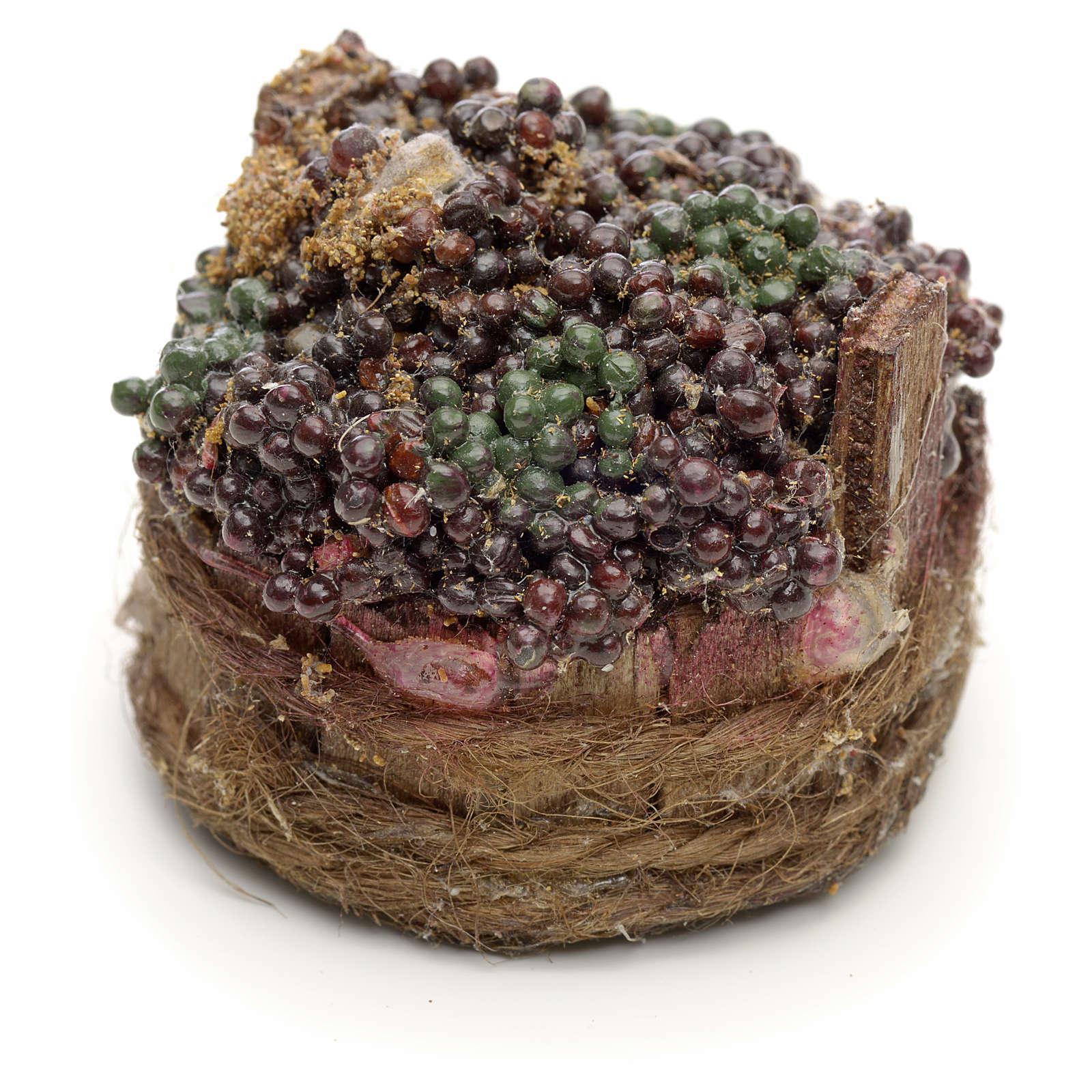 Raisins noirs dans à baquet crèche napolitaine 4,5cm 4