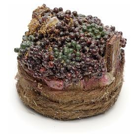 Raisins noirs dans à baquet crèche napolitaine 4,5cm s1