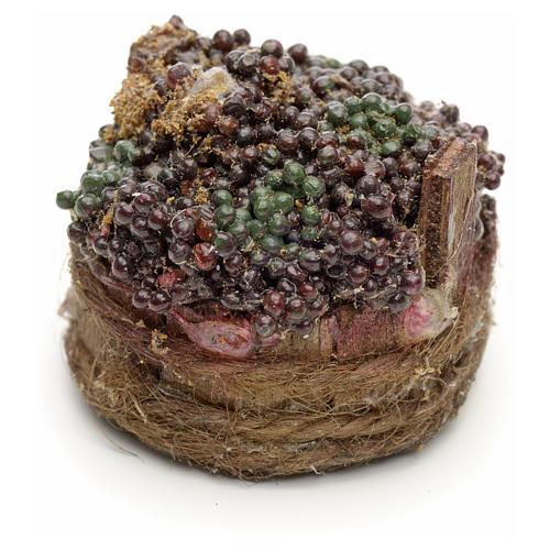 Raisins noirs dans à baquet crèche napolitaine 4,5cm 1