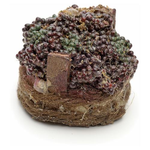 Raisins noirs dans à baquet crèche napolitaine 4,5cm 2