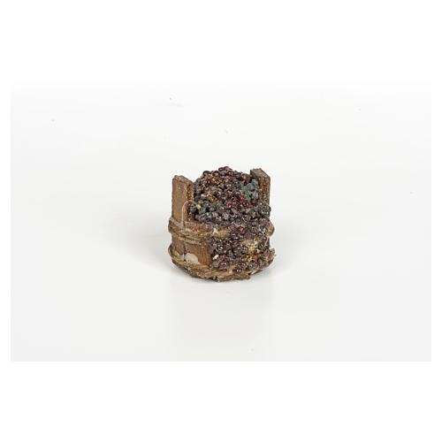 Tina de uva negra pesebre Nápoles 3cm diámetro 1