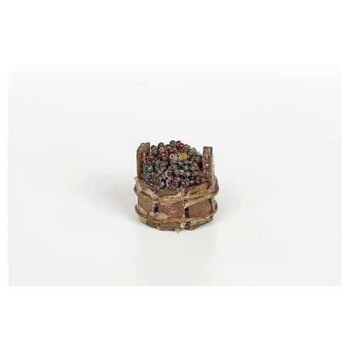Tina de uva negra pesebre Nápoles 3cm diámetro 2