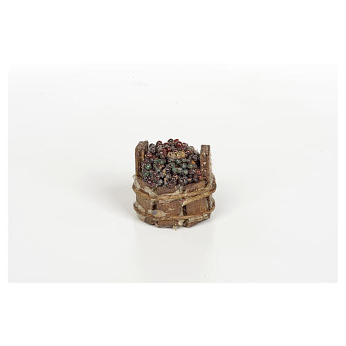 Tinozza uva nera presepe Napoli diam 3 cm 2