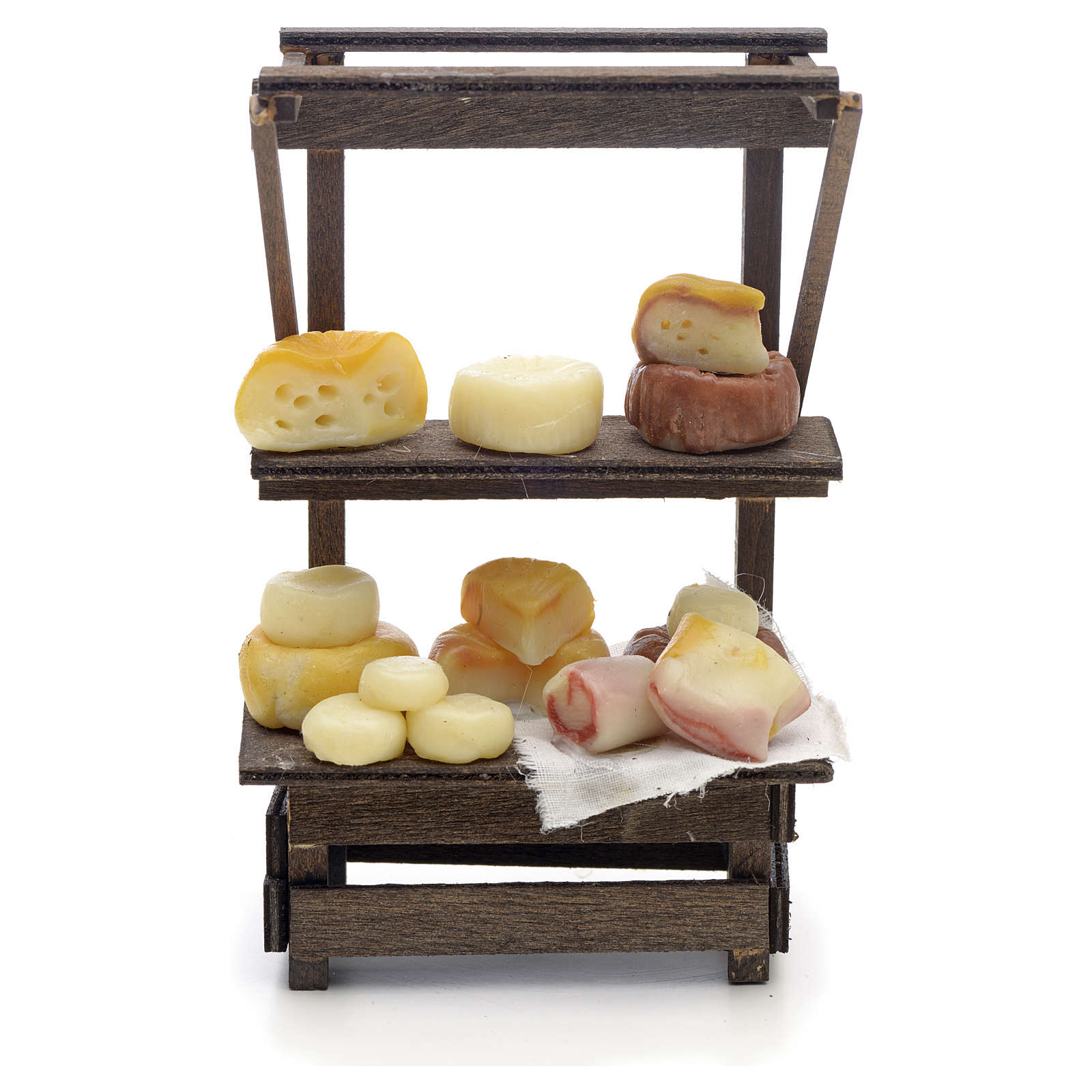 Banco formaggi e salumi presepe Napoli 4