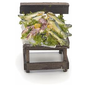 Comptoir des poissons en miniature crèche Napolitaine s1