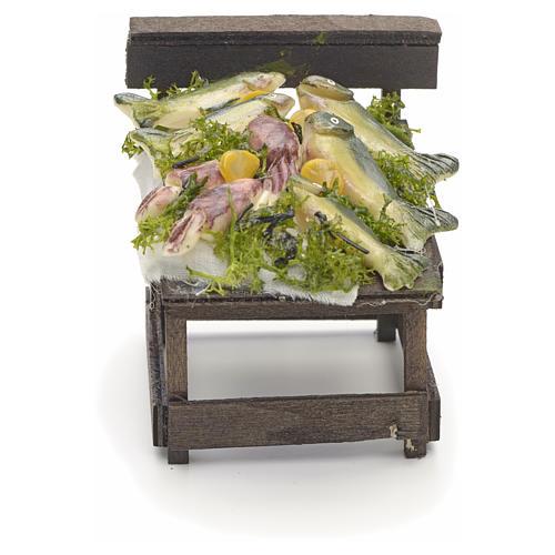 Comptoir des poissons en miniature crèche Napolitaine 1