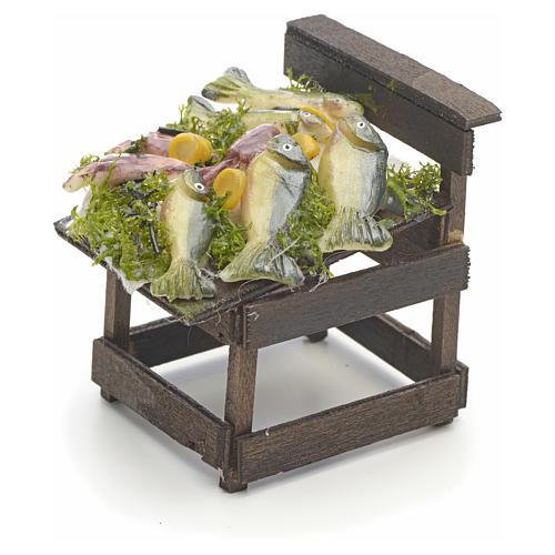 Comptoir des poissons en miniature crèche Napolitaine 3