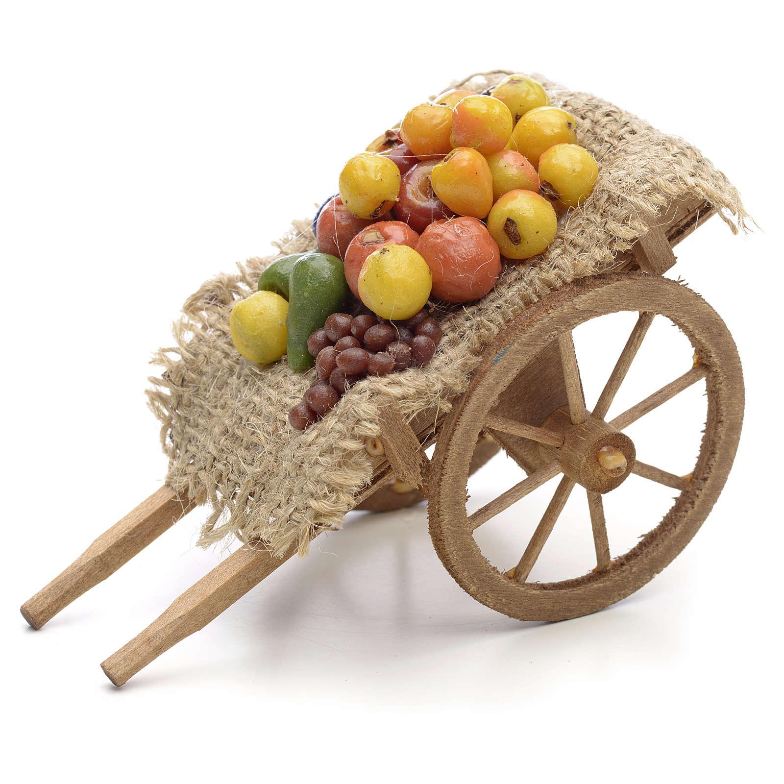 Carreta de frutas y verduras Pesebre Nápoles 4