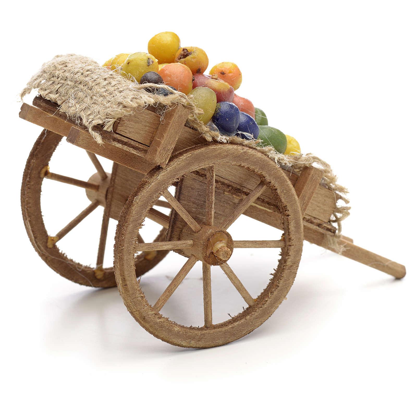 Carro con frutta e verdura Presepe Napoli 4