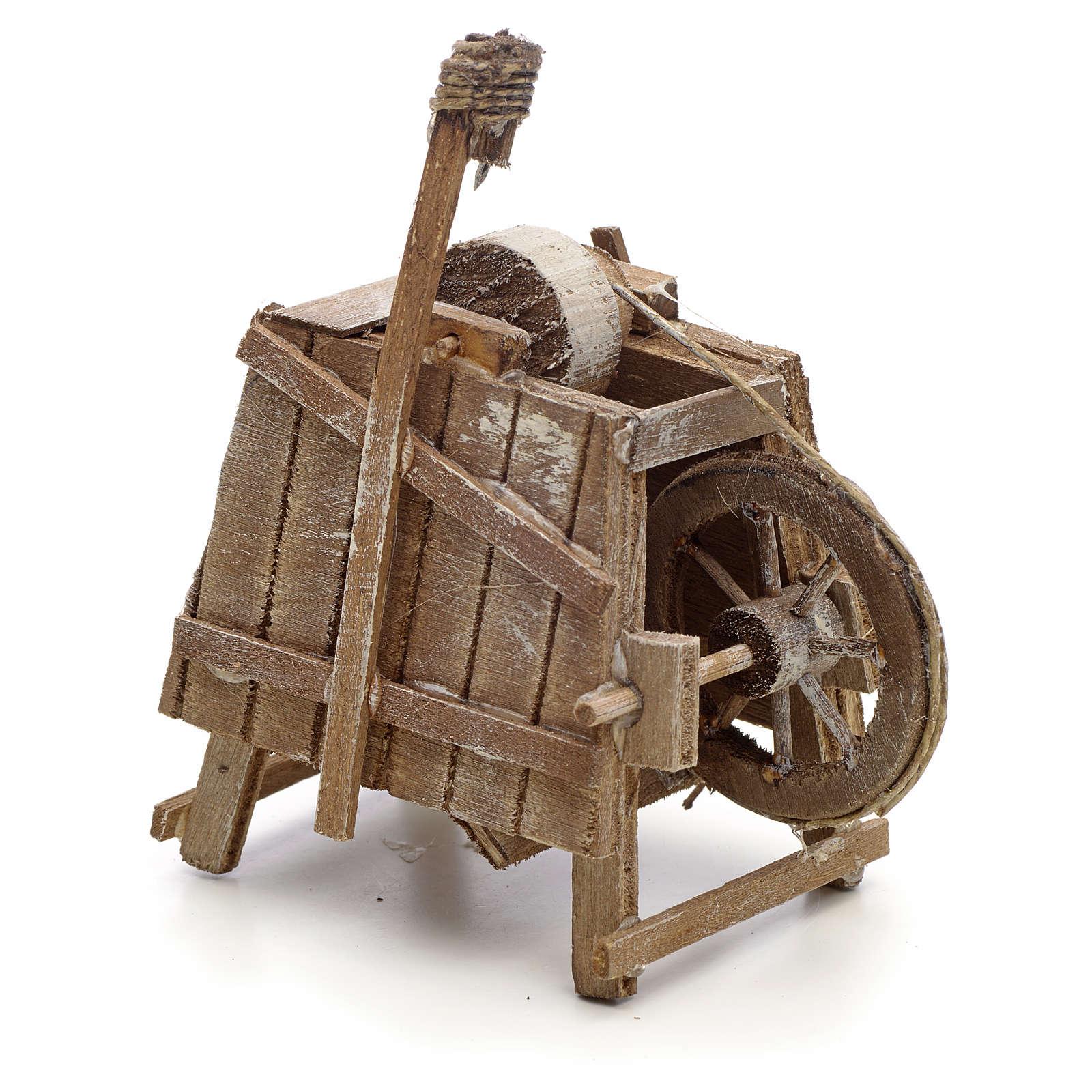 Banc de rémouleur en miniature crèche Napolitaine 4