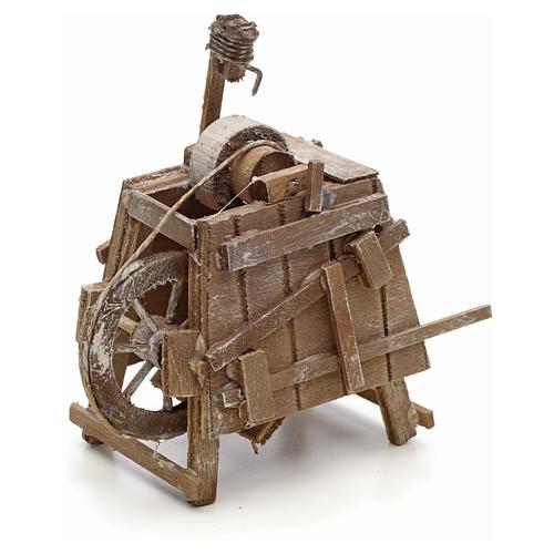 Banc de rémouleur en miniature crèche Napolitaine 2