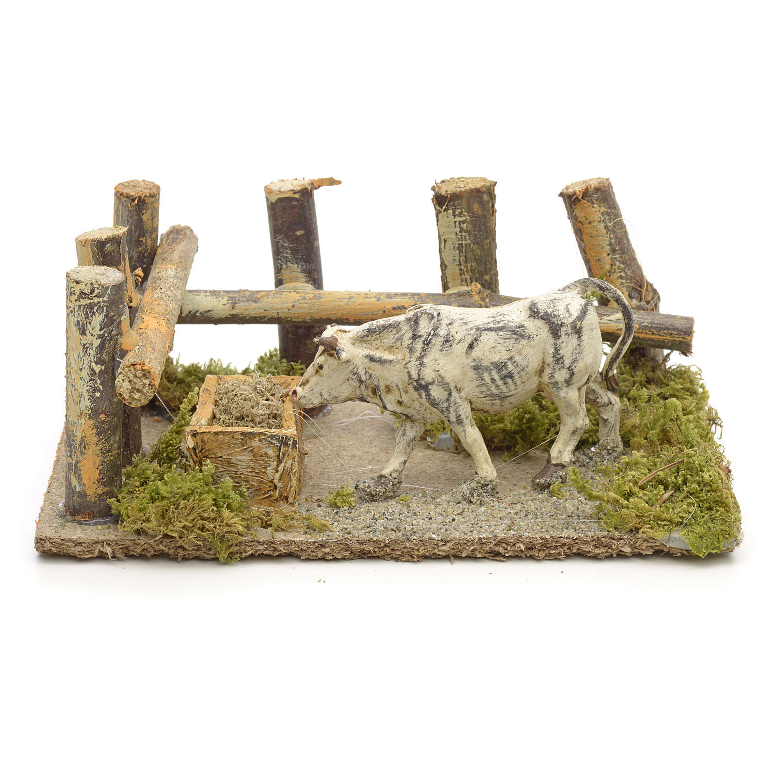 Nativity setting, ox at the manger 10x14x9cm 4