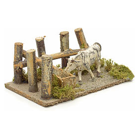 Nativity setting, ox at the manger 10x14x9cm s2
