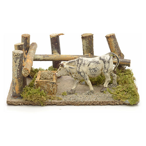 Nativity setting, ox at the manger 10x14x9cm 1