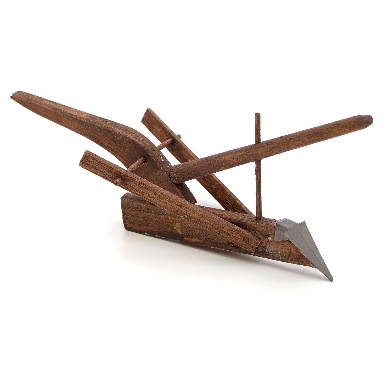 Neapolitan Nativity scene accessory, plough  15x7x4 cm 4
