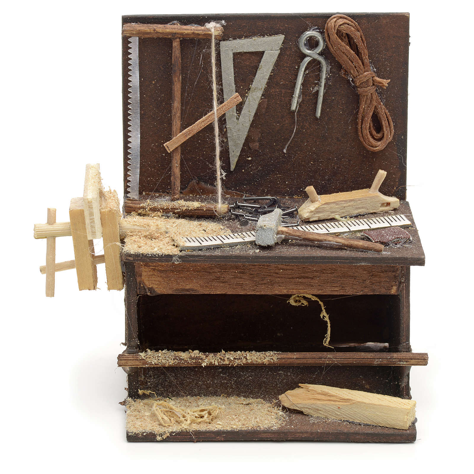 Banco del carpintero pesebre de Nápoles 8,5x6,5x6 cm 4