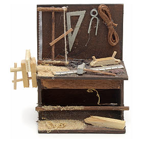 Banco del carpintero pesebre de Nápoles 8,5x6,5x6 cm s1