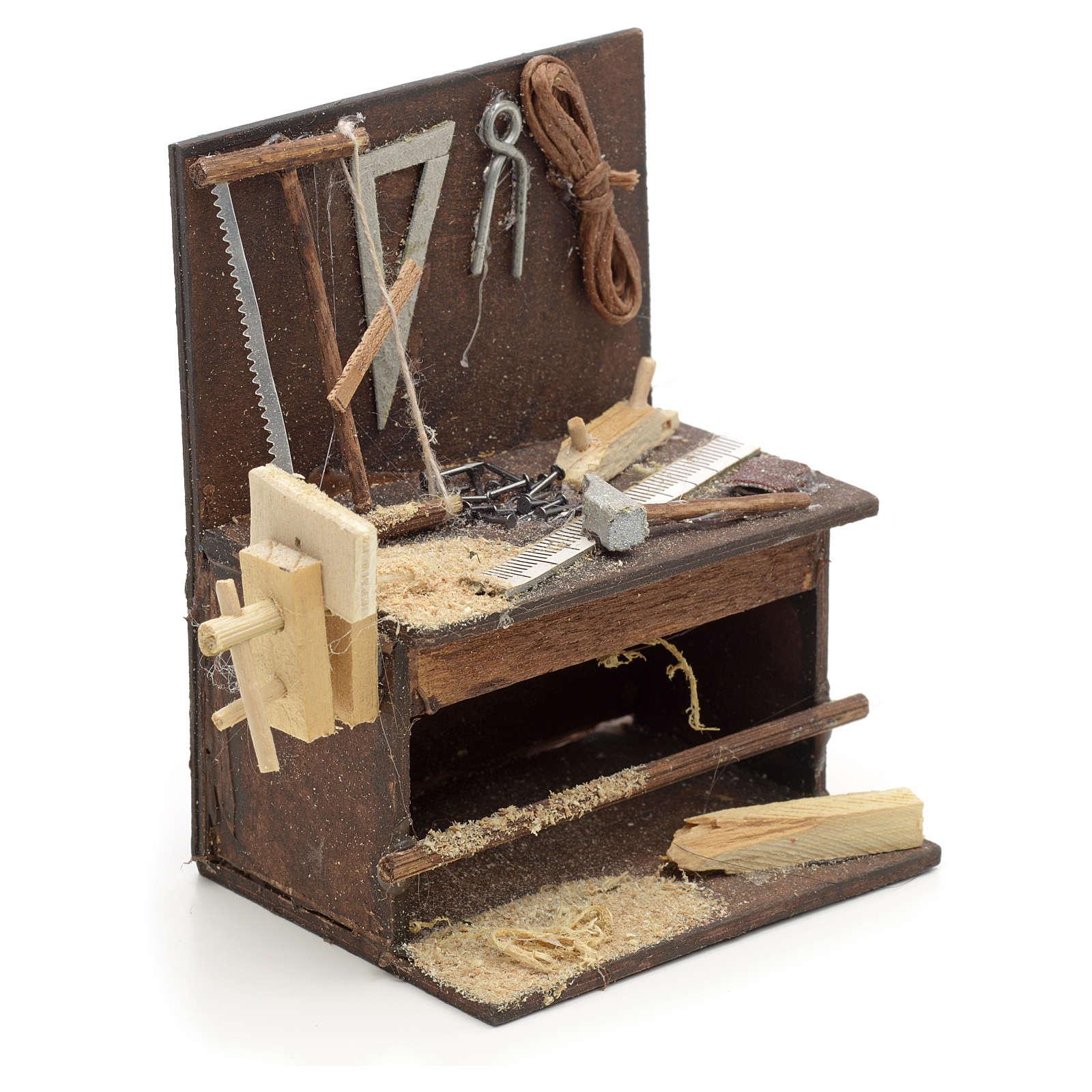 Etabli du menuiser en miniature crèche Napolitaine 8,5x6,5x6 cm 4
