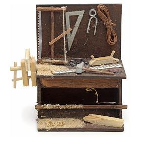Etabli du menuiser en miniature crèche Napolitaine 8,5x6,5x6 cm s1