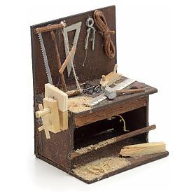Etabli du menuiser en miniature crèche Napolitaine 8,5x6,5x6 cm s2