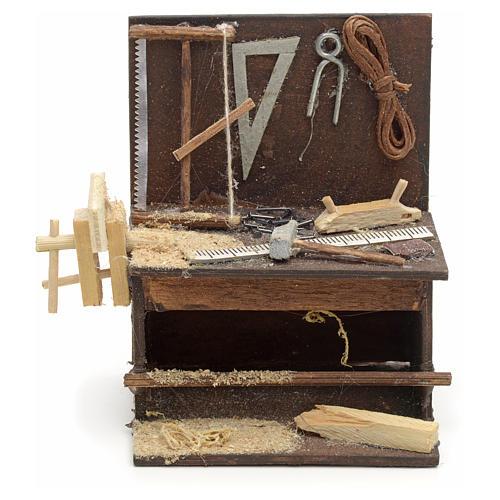 Etabli du menuiser en miniature crèche Napolitaine 8,5x6,5x6 cm 1