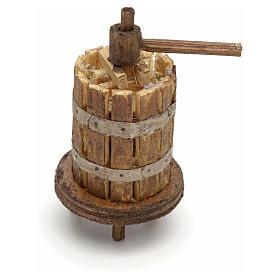 Prensa madera clara pesebre Nápoles 5,5x3 cm s1