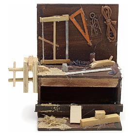 Etabli du menuiser en miniature crèche Napolitaine 10x10x7 cm s1