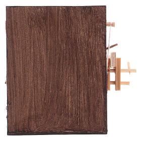 Banco del falegname presepe Napoli 10x10x7 cm s4