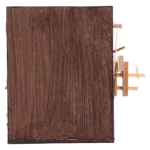 Banco del falegname presepe Napoli 10x10x7 cm 4