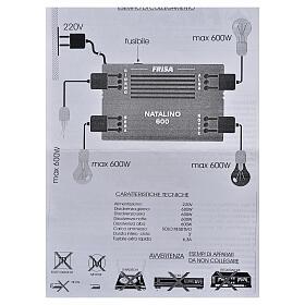 Natalino N600: controlador efeitos luz gradual dia e noite s5