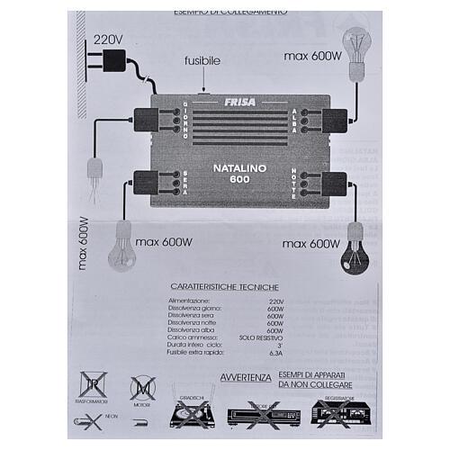 Natalino N600: controlador efeitos luz gradual dia e noite 5