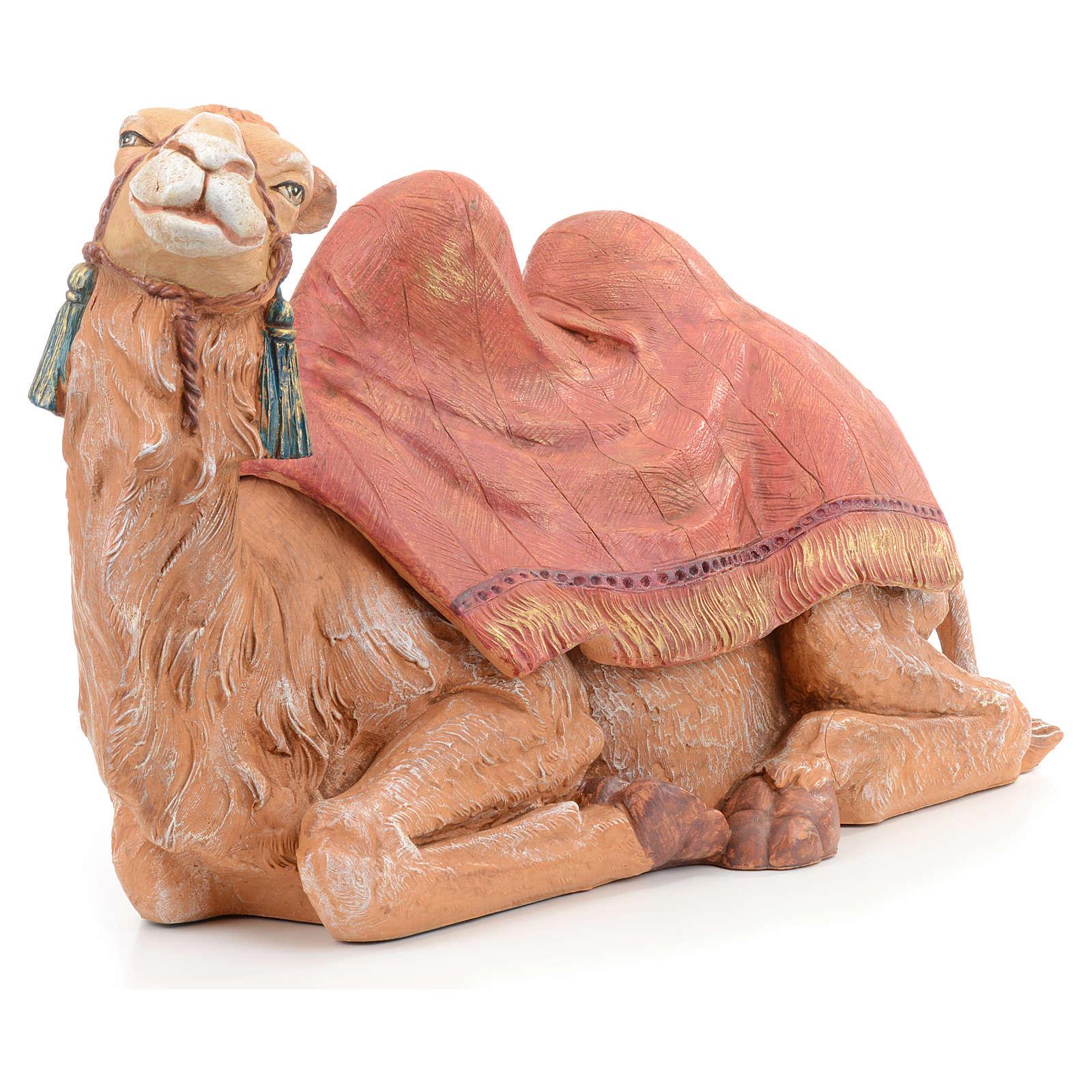 Cammello seduto sacca rossa Fontanini 45 cm 4
