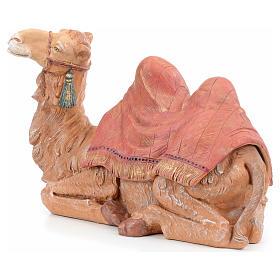 Cammello seduto sacca rossa Fontanini 45 cm s2