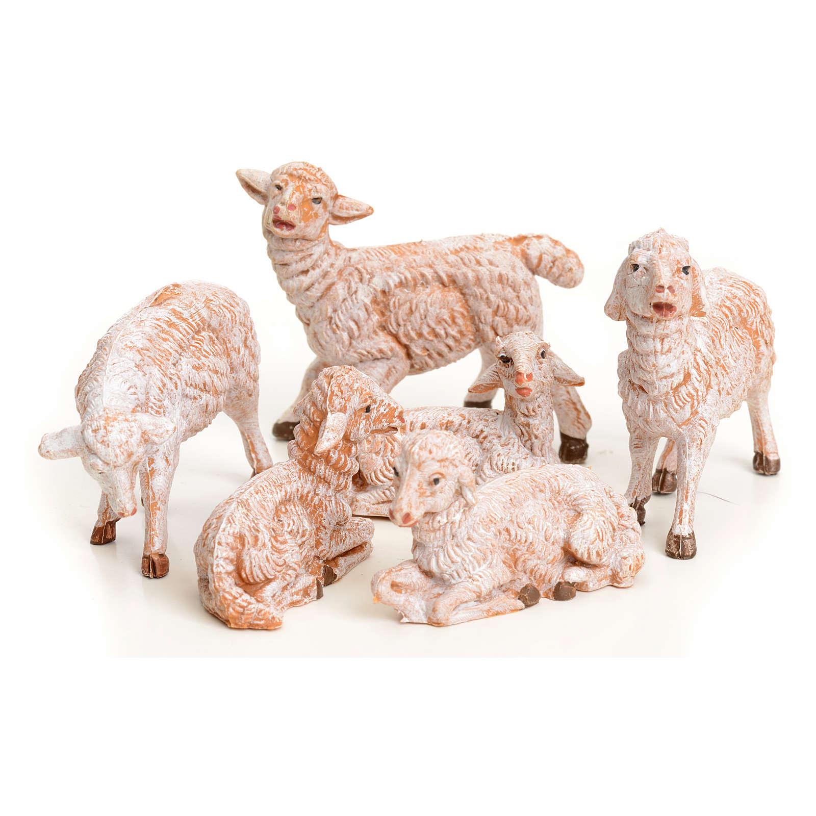 Pecore 6 pz per presepe 9,5 cm Fontanini 3