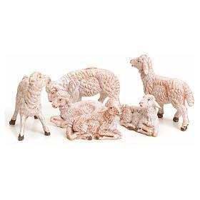 Pecore 6 pz per presepe 9,5 cm Fontanini s2