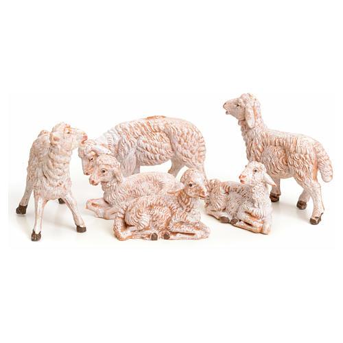 Pecore 6 pz per presepe 9,5 cm Fontanini 2