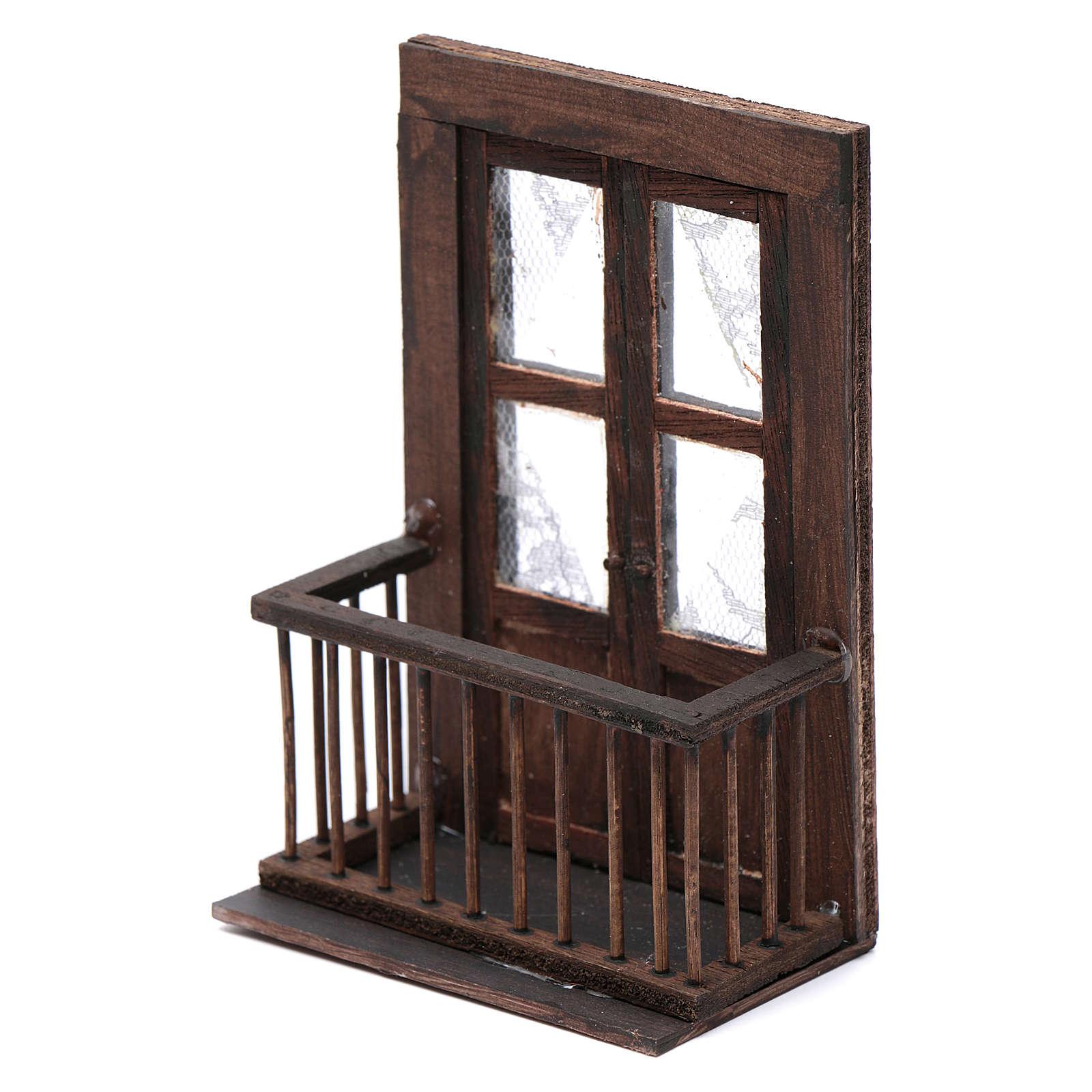 Puerta con balcón 13x7x8 cm pesebre napolitano 4