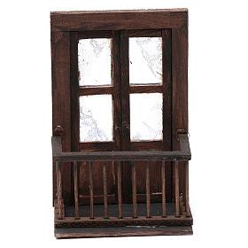 Puerta con balcón 13x7x8 cm pesebre napolitano s1