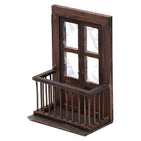 Puerta con balcón 13x7x8 cm pesebre napolitano s2