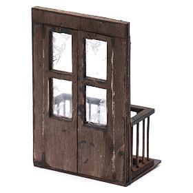 Puerta con balcón 13x7x8 cm pesebre napolitano s3